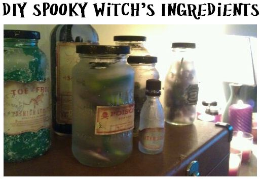Frogs and snakes and bats, oh my!: DIY Spooky Witch's Ingredients