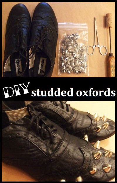 DIY Studded Oxfords (for the gal who loves crafting & shoes)