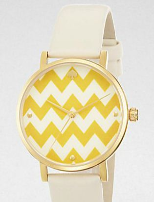 Kate Spade New York Metro Zigzag Striped Watch |  $175 | Image courtesy of Saks