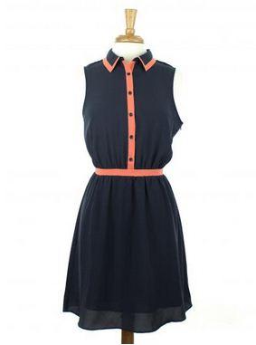 Navy Blue Tundra Dress - Hazel2Blue