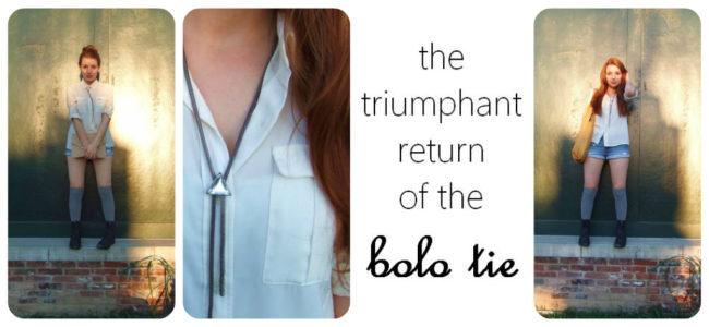 The Triumphant Return of the Bolo Tie