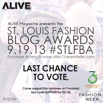 GIVEAWAY: Win 2 Tickets to the Saint Louis Fashion Blog Awards & STLFW Kick-Off Party at Three-Sixty