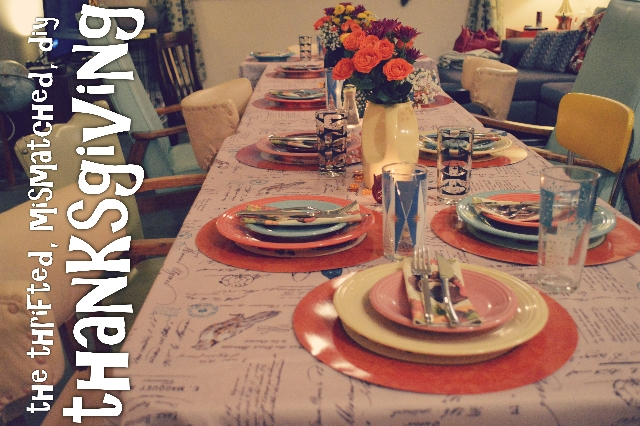 Thanksgiving for a Crowd | A Thrifted, Mismatched & DIY Holiday Party