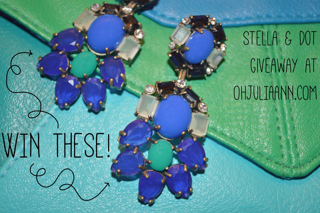 GIVEAWAY! Win a pair of Stella & Dot Peacock Chandelier Earrings (Valued at $69)