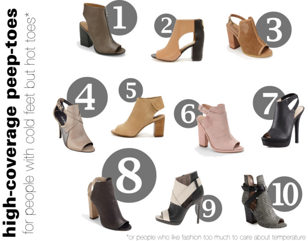 Confusing Clothing I Love, Pt. 1 | Peep-Toe Booties, etc.