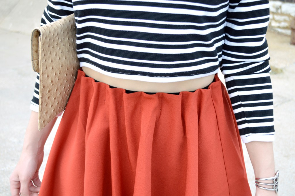 Pitaya Burnt Orange Circle Skirt and Cropped Sweater (4)