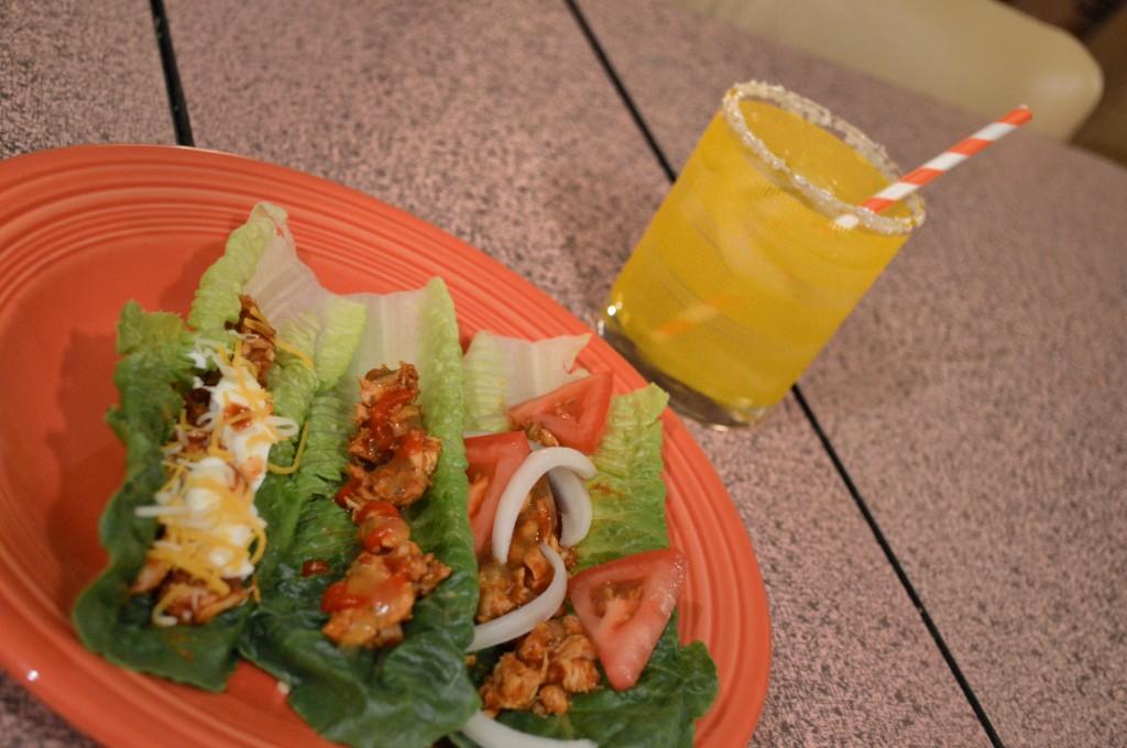 easy chicken lettuce taco - 2