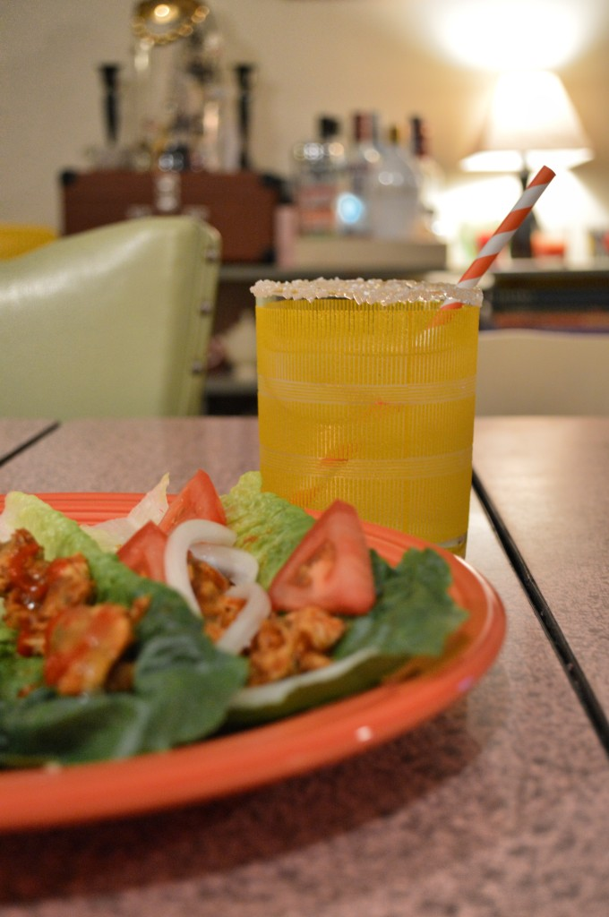 easy chicken lettuce taco - 3