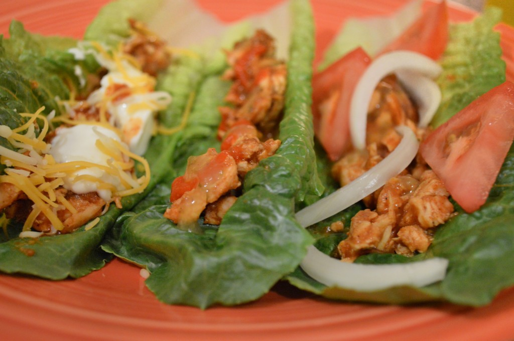 easy chicken lettuce taco - 4