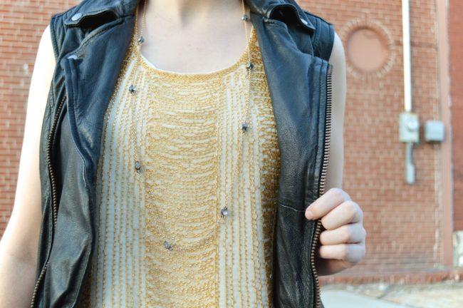 Leather and Shine | Pitaya's Beaded Blouse