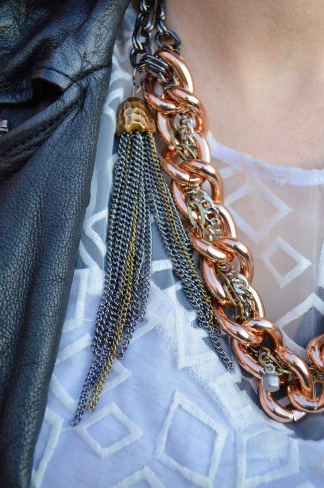 Mixing Seasons, Metals | DIY Mixed-Metals Tassel Necklace