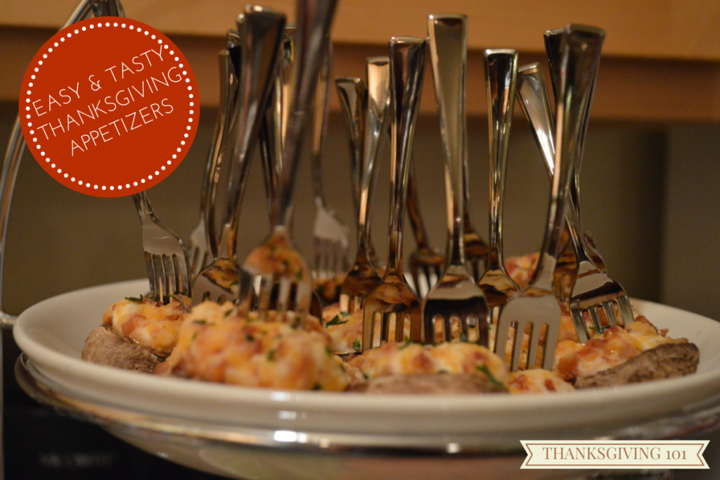 Easy Thanksgiving Appetizer Recipe - Bacon and Cheese Stuffed Mushrooms on Mini Forks (3)