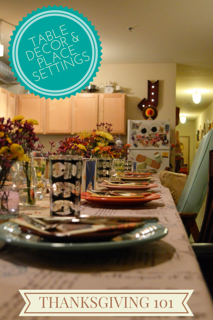 Thanksgiving 101: Table Decor, Place Settings, & Party Favors