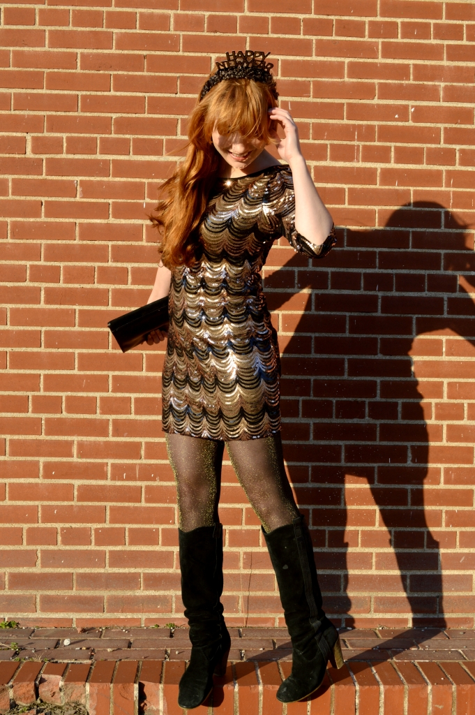 sequin dress pitaya scallop nye new years eve black gold bronze