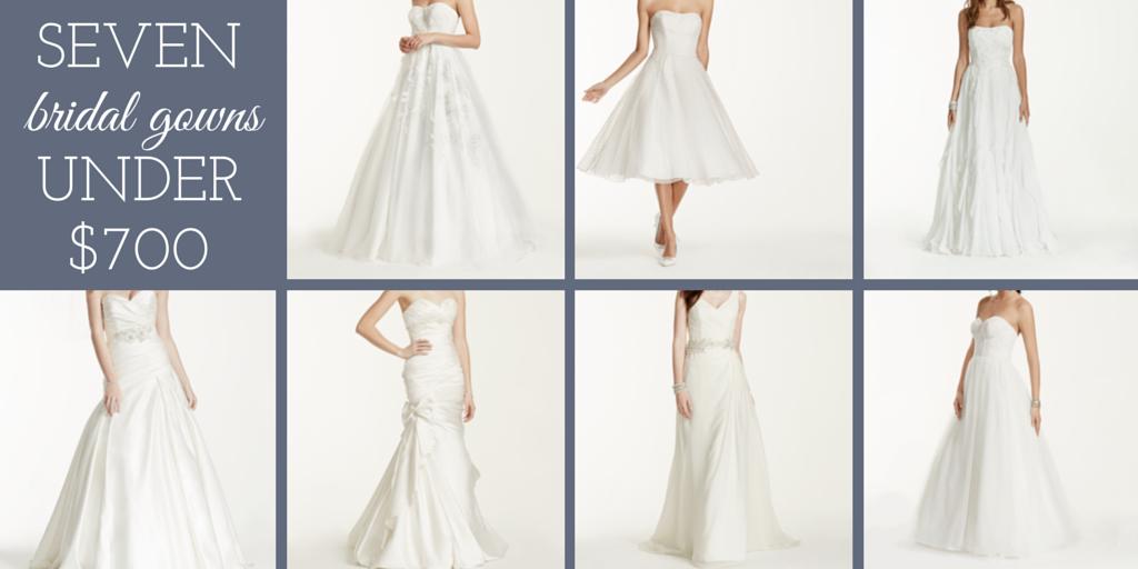 seven bridal gowns under 700 dollars