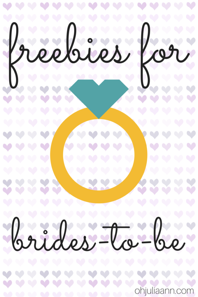 Wedding Wednesday   Freebies for Brides-To-Be