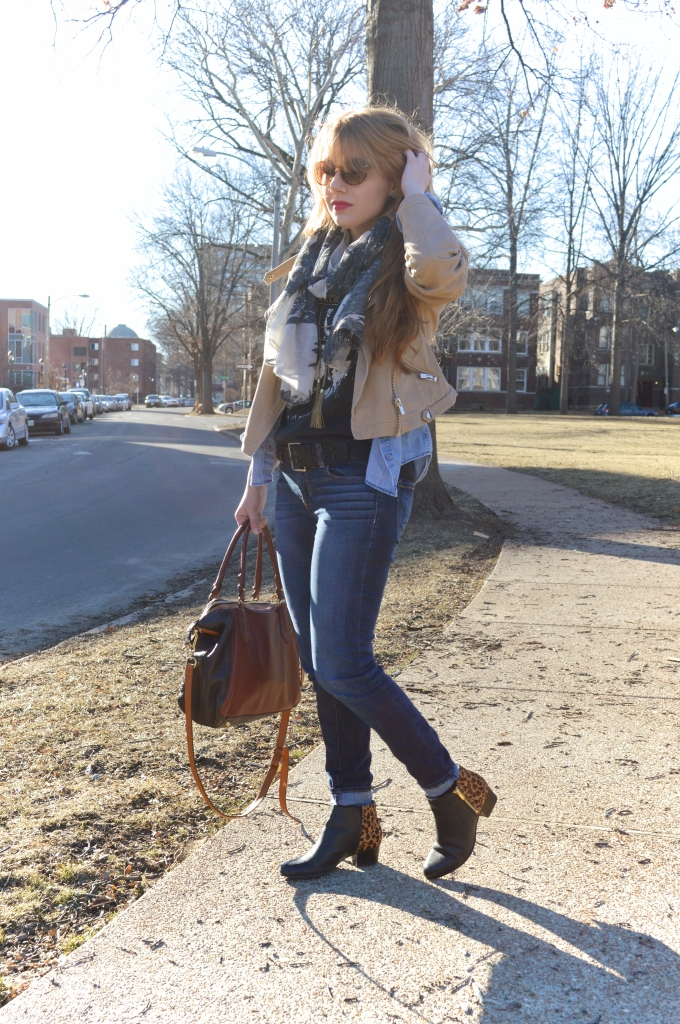 tee - jeans - leopard boots - layers (2)