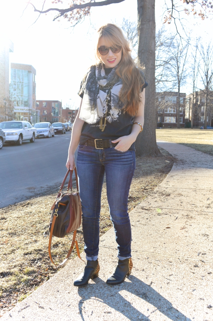 tee - jeans - leopard boots - layers (3)