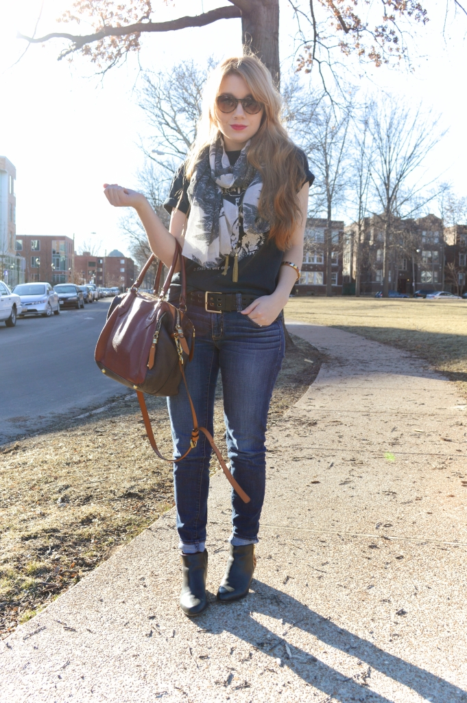 tee - jeans - leopard boots - layers (5)