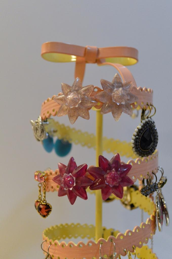 diy rosette mirror clips hardware store earrings (2)
