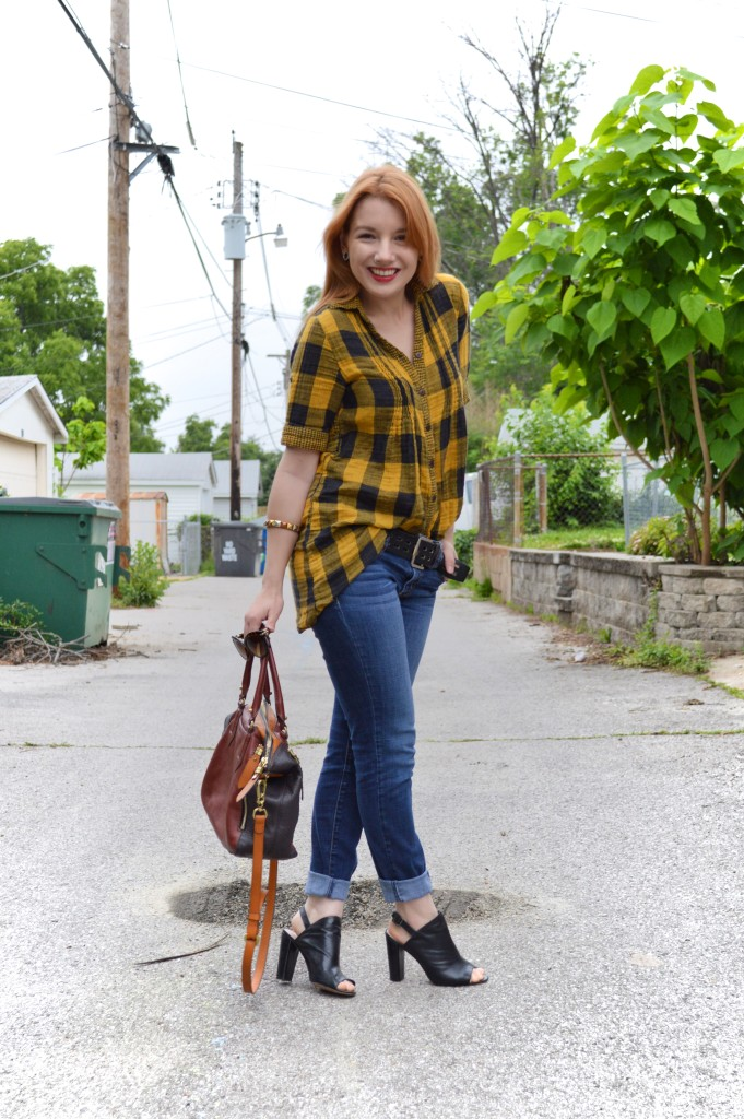 Buffalo Plaid Tunic Outfit (2)