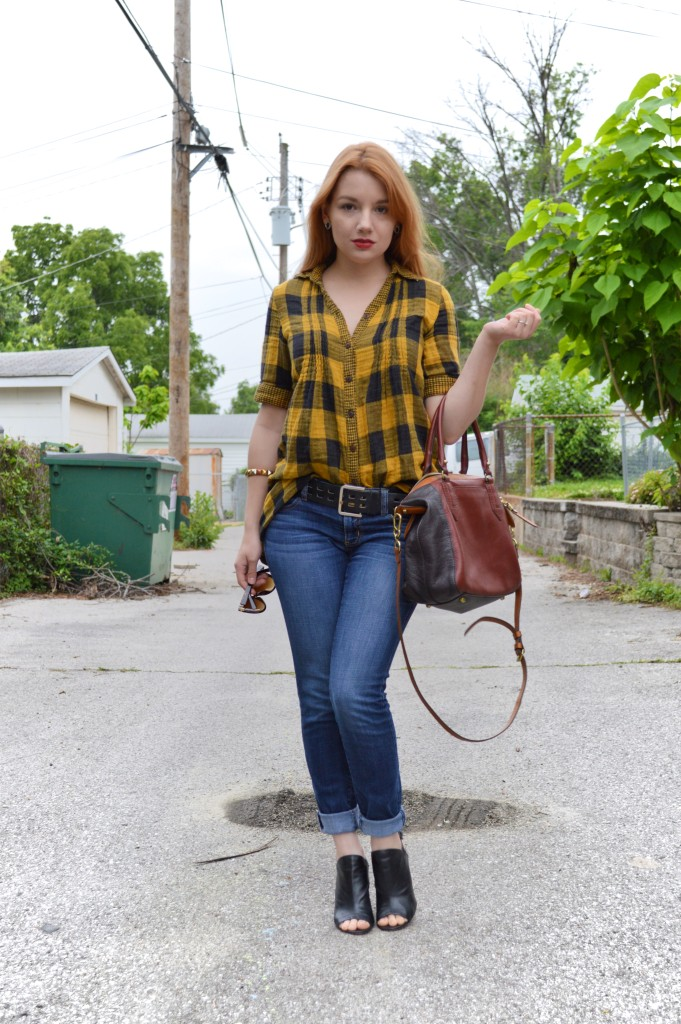 Buffalo Plaid Tunic Outfit (3)