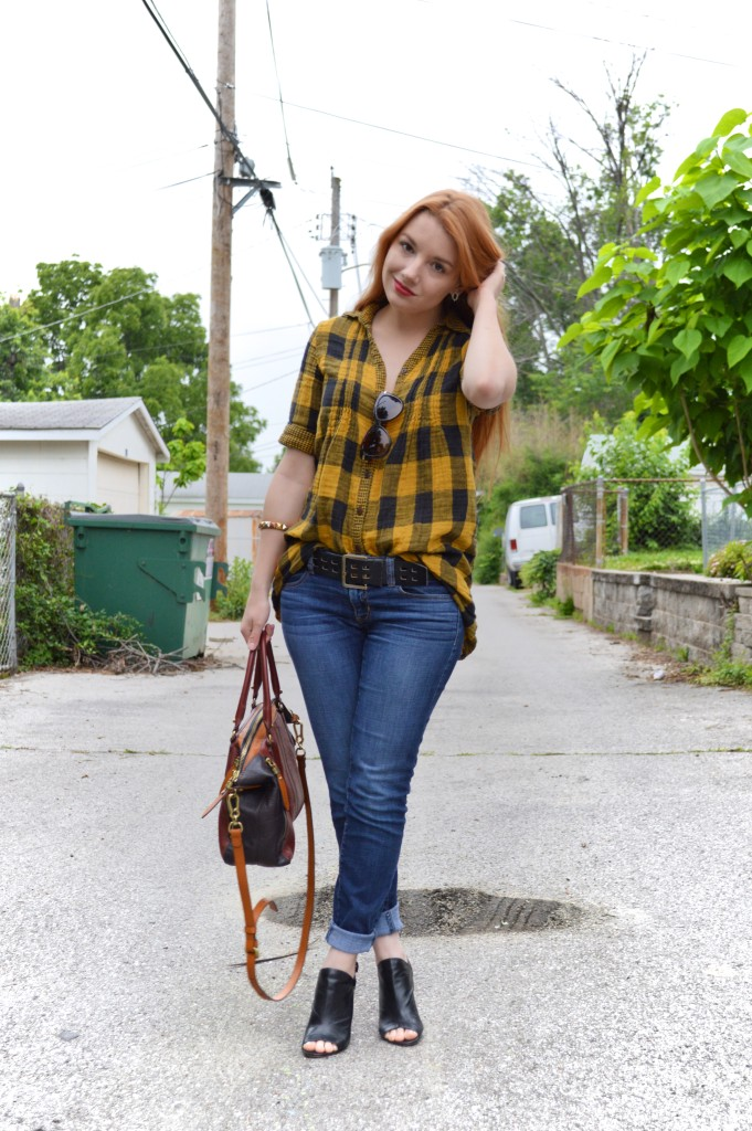Buffalo Plaid Tunic Outfit (4)