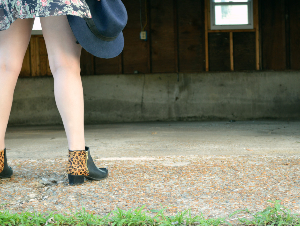 Floral Kimono - Leopard Naturalizer Booties - Summer Outfit (2)