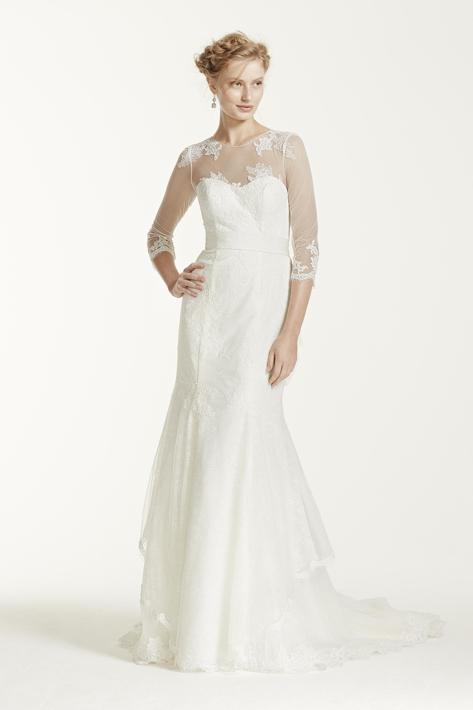 Wedding wednesday seven 3 4 sleeve bridal gowns you ll for Melissa sweet short wedding dress