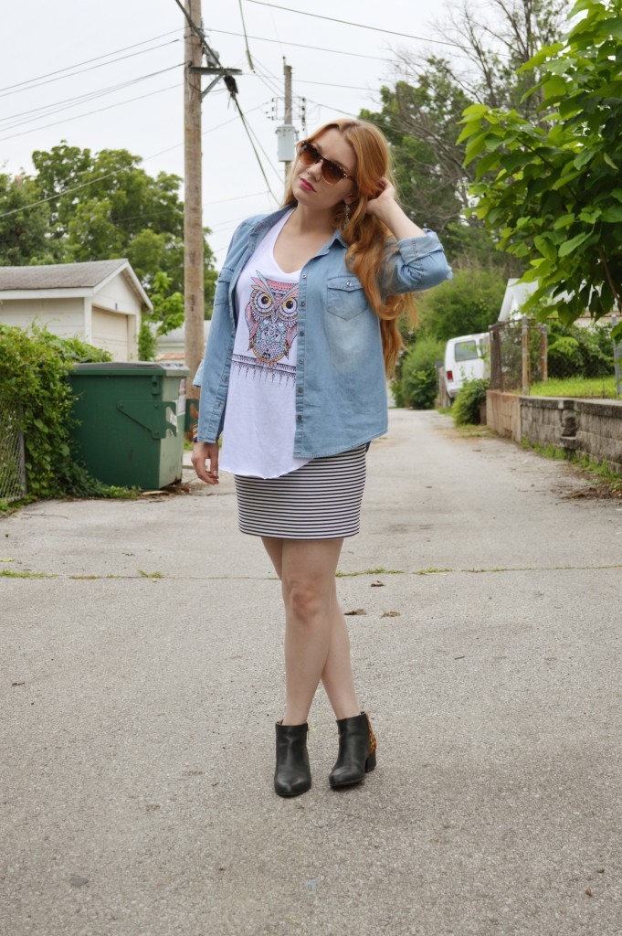 OhJuliaAnn.com - Gordmans Bohemian Summer Outfit with Owl Tee (1)