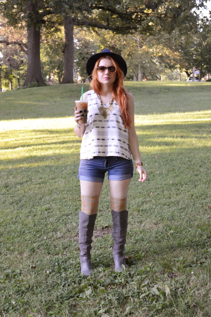 madewell top with naturalizer naya boots and free people thigh high socks - ohjuliaann.com (3)