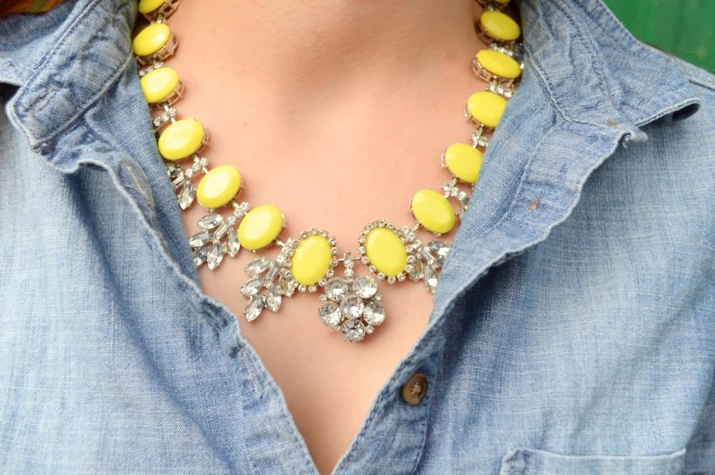 cs gems citrus outfit statement necklace denim - oh julia ann (2)