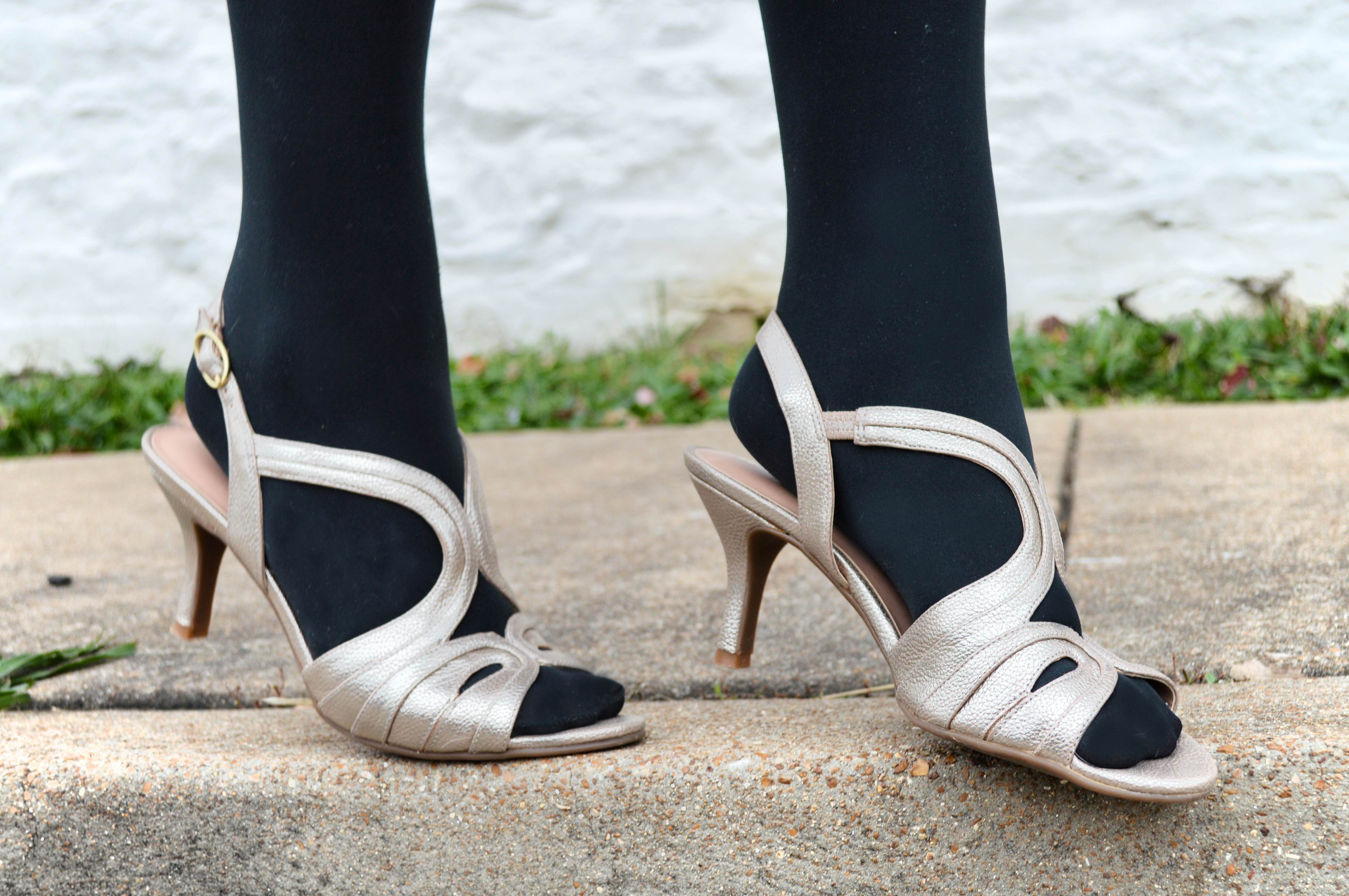 Formal Sandals With Black Tights Naturalizer Outfit Oh Julia Ann 1