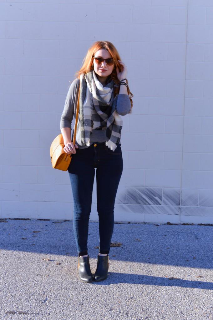 Blanket Scarf with Victoria Emerson Wrp Bracelet Outfit - Oh Julia Ann (1)