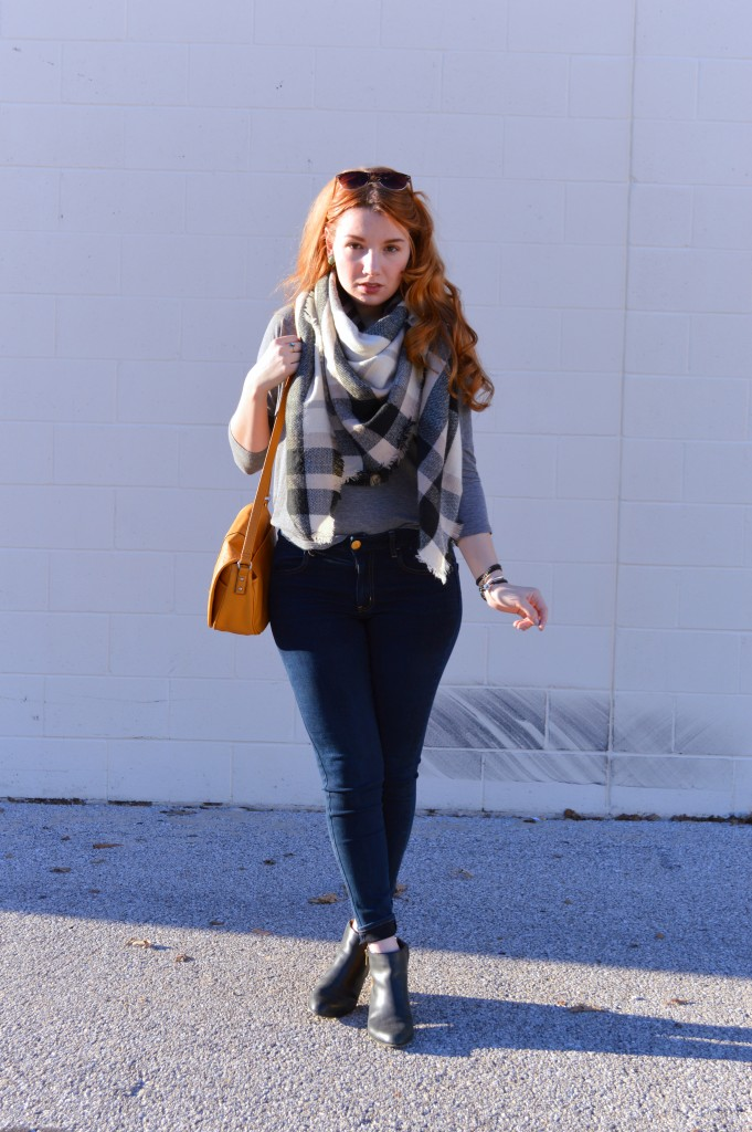 Blanket Scarf with Victoria Emerson Wrp Bracelet Outfit - Oh Julia Ann (2)
