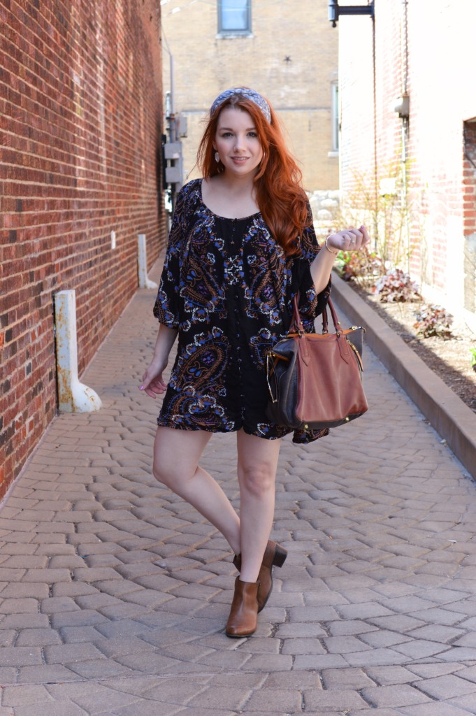 Free People Dress with Anthro Headband and Naturalizer Booties Outfit - Oh Julia Ann - St Louis Fashion Blog (3)