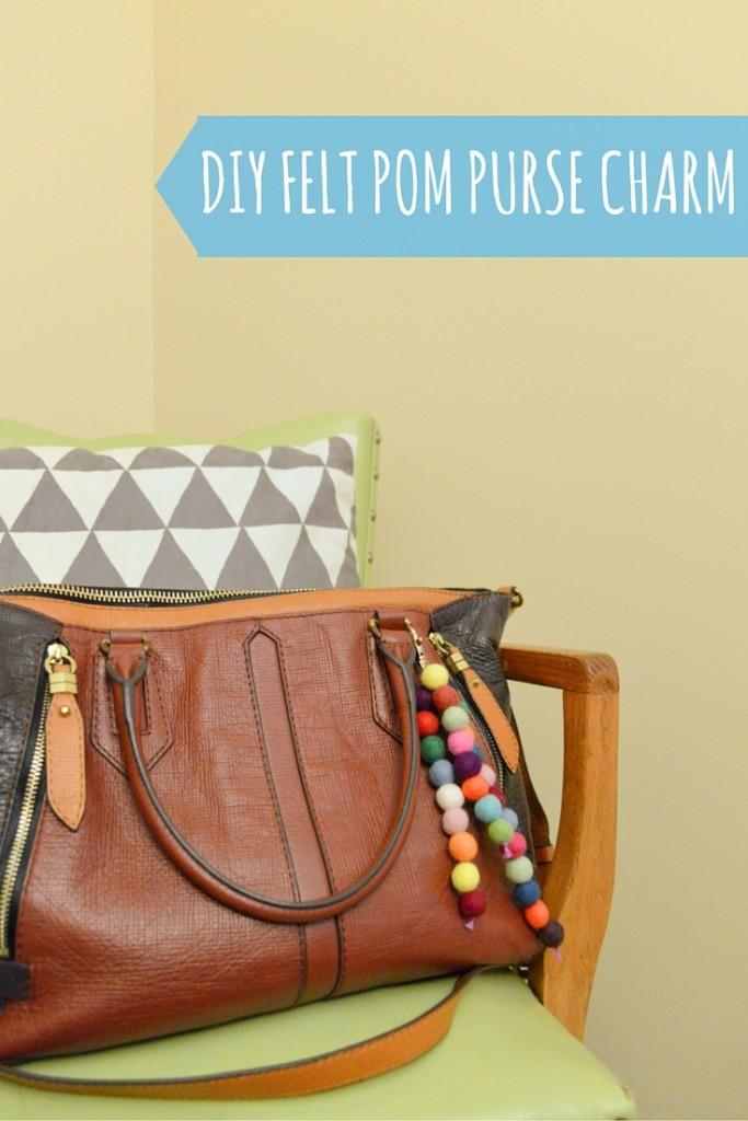 DIY Felt Pom Purse Charm