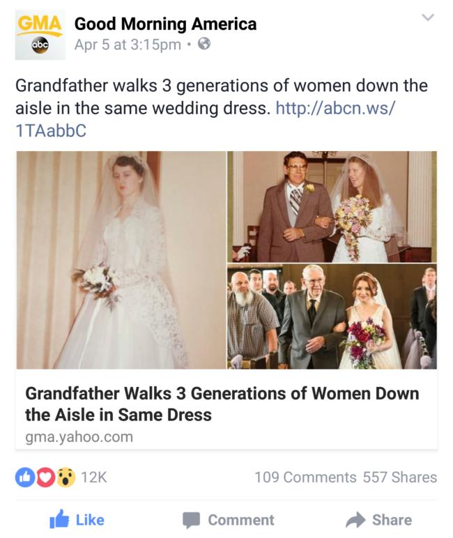 The Third-Generation Wedding Dress Seen Around The World