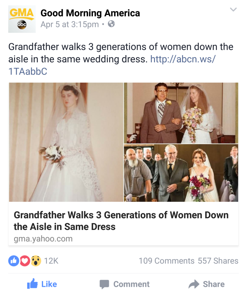Oh Julia Ann - Wedding Dress Worn Across Three Generations - ABC Good Morning America