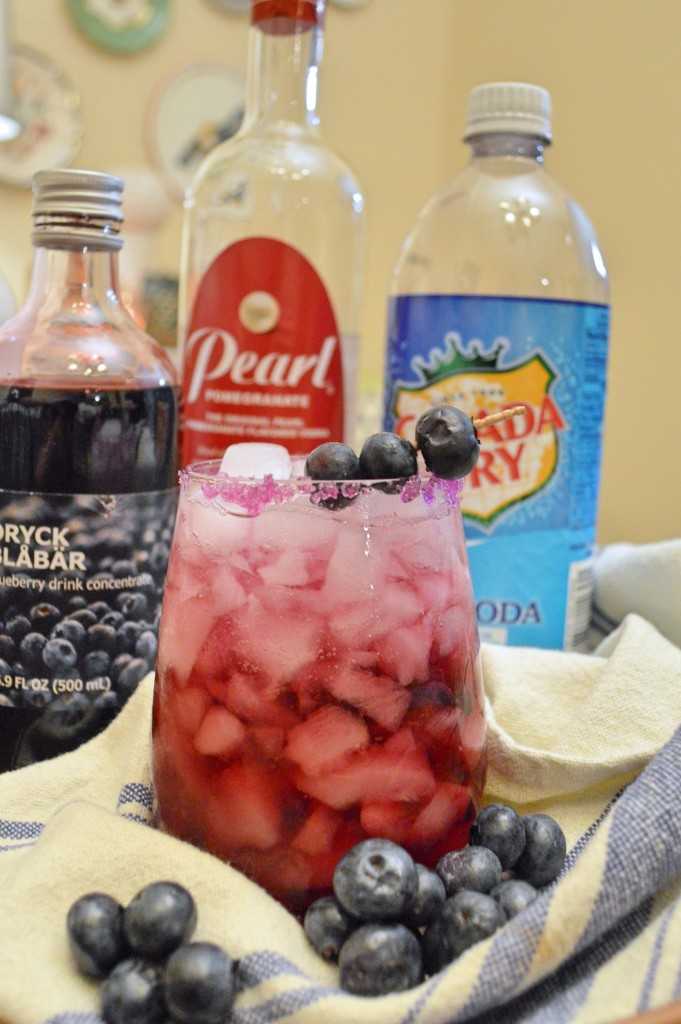 Coco-Berry Cocktail Recipe - Pomegranate Vodka, Coconut Rum, Blueberry, Club Soda Alcohol Recipe Party Drink for Summer - Oh Julia Ann - Sweet Tropical Beverage (4)