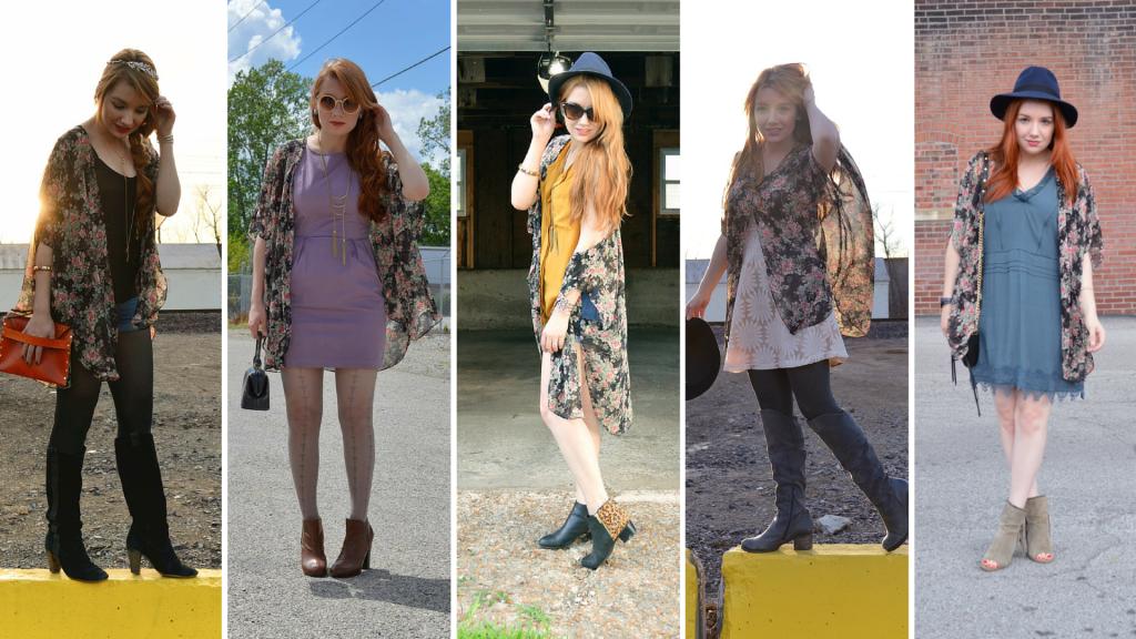 Floral Kimono Styled Five Ways