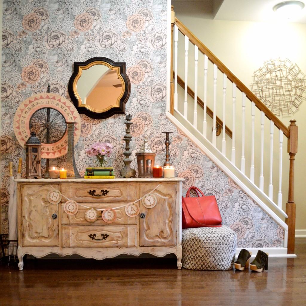 Oh Julia Ann Walls Need Love Removable Wallpaper Floral Home Interior Design Stairs Shabby Chic Vintage House (2)