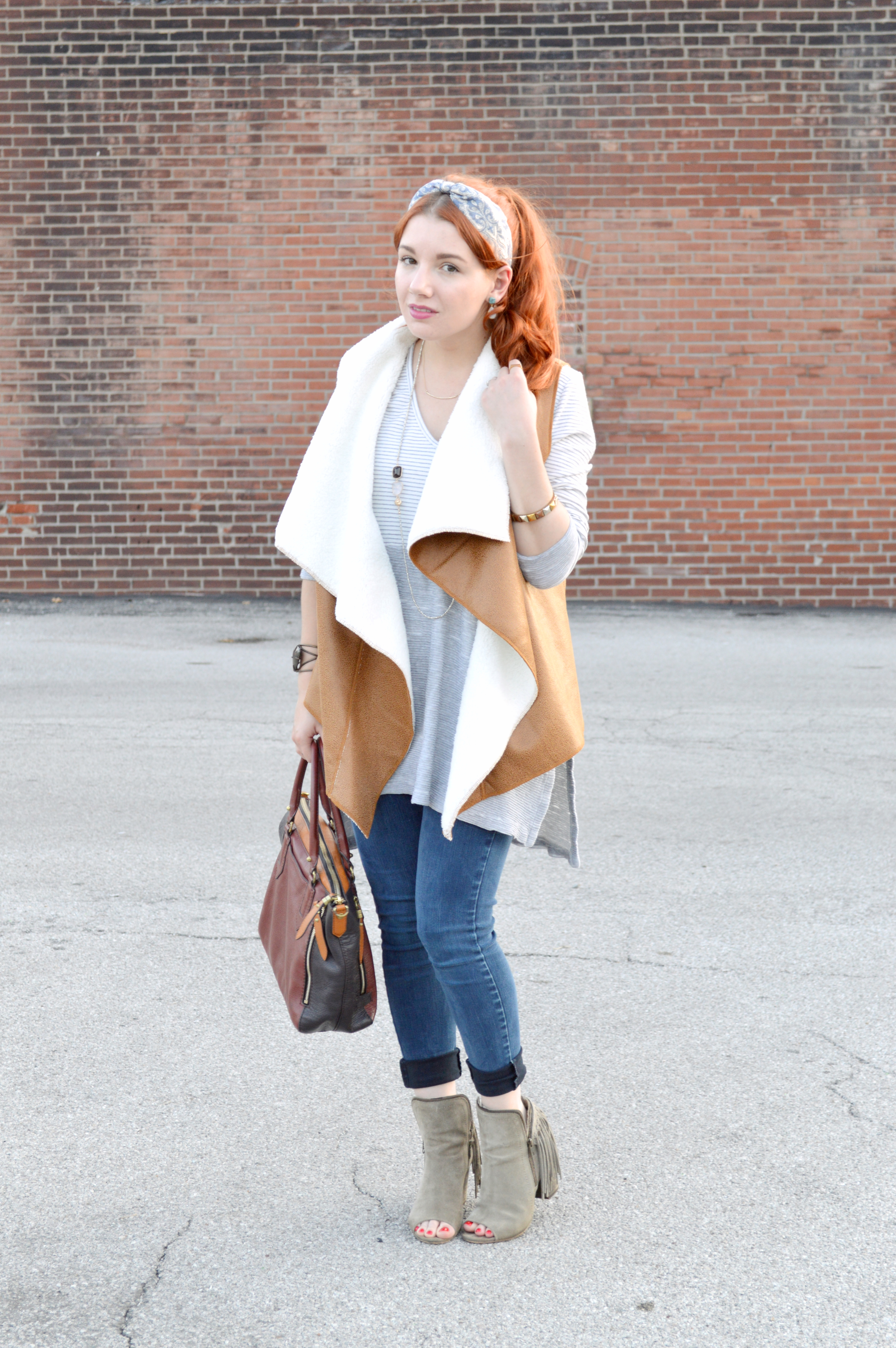 Fall Preview - Tobi Faux Shearling Vest - Outfit by Oh Julia Ann (2)