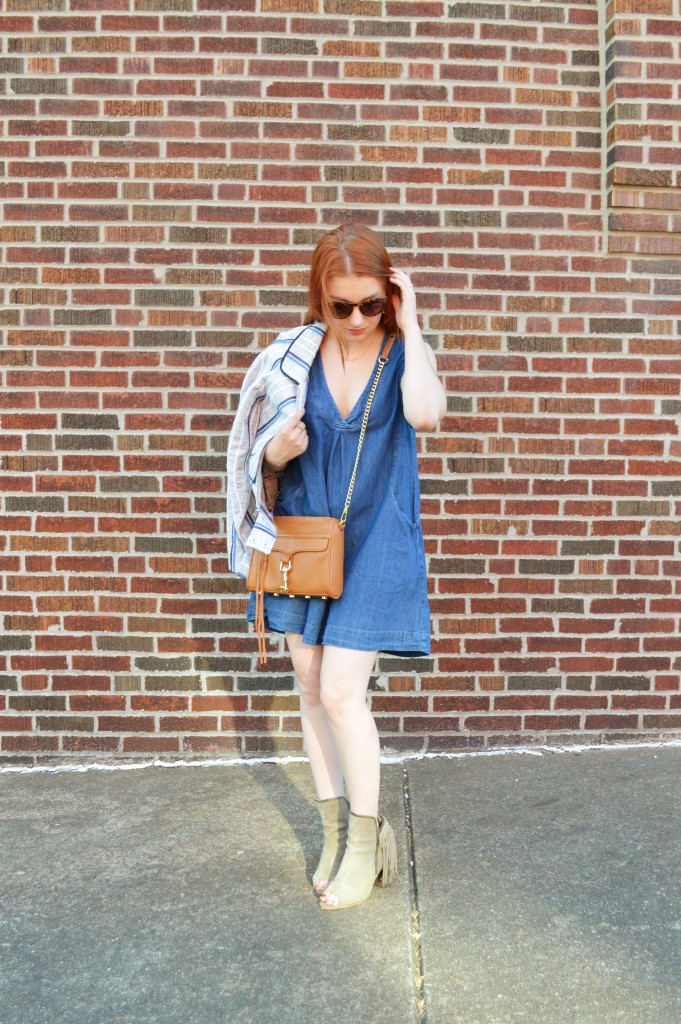 Rebecca Minkoff MAC Crossbosy Purse and Striped Jacket Summer Outfit - Oh Julia Ann (2)