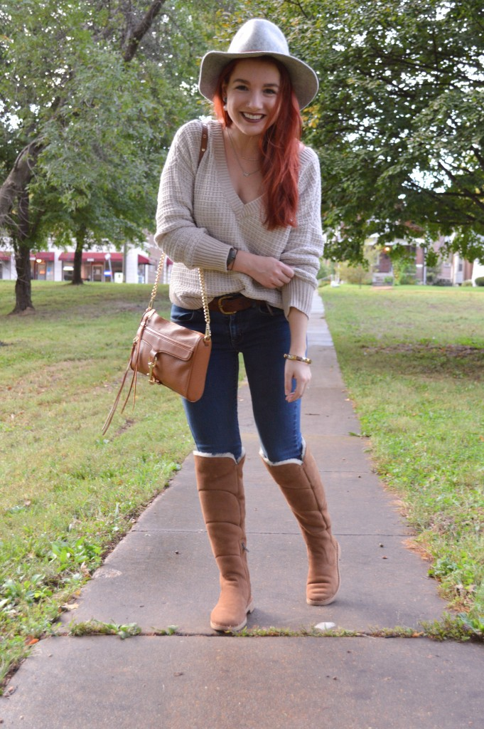 how to wear ugg boots with jeans