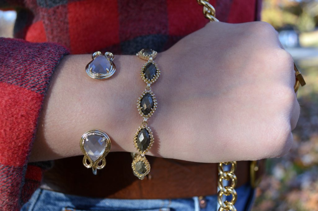 kendra-scott-jana-bracelet-in-pyrite-and-andy-bracelet-in-slate-cats-eye