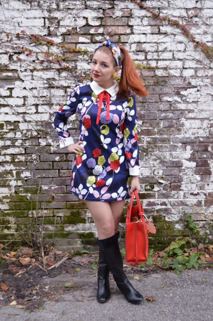 retro-1960s-inspired-long-sleeved-dress-with-bow-tie-from-stylewe-with-naturalizer-boots-and-an-anthropologie-headband-full-outfit-on-ohjuliaann-com