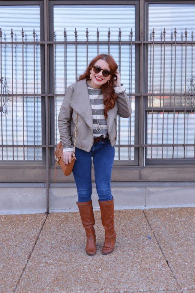 Crazy Weather + Taupe Moto Jacket