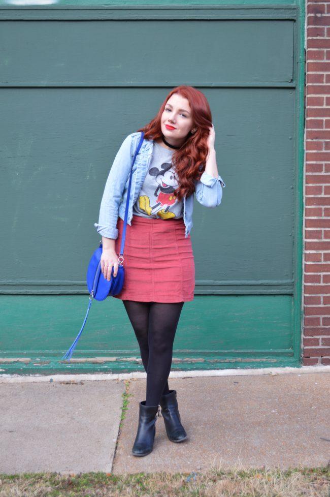 Vintage Mickey + Mini Skirt