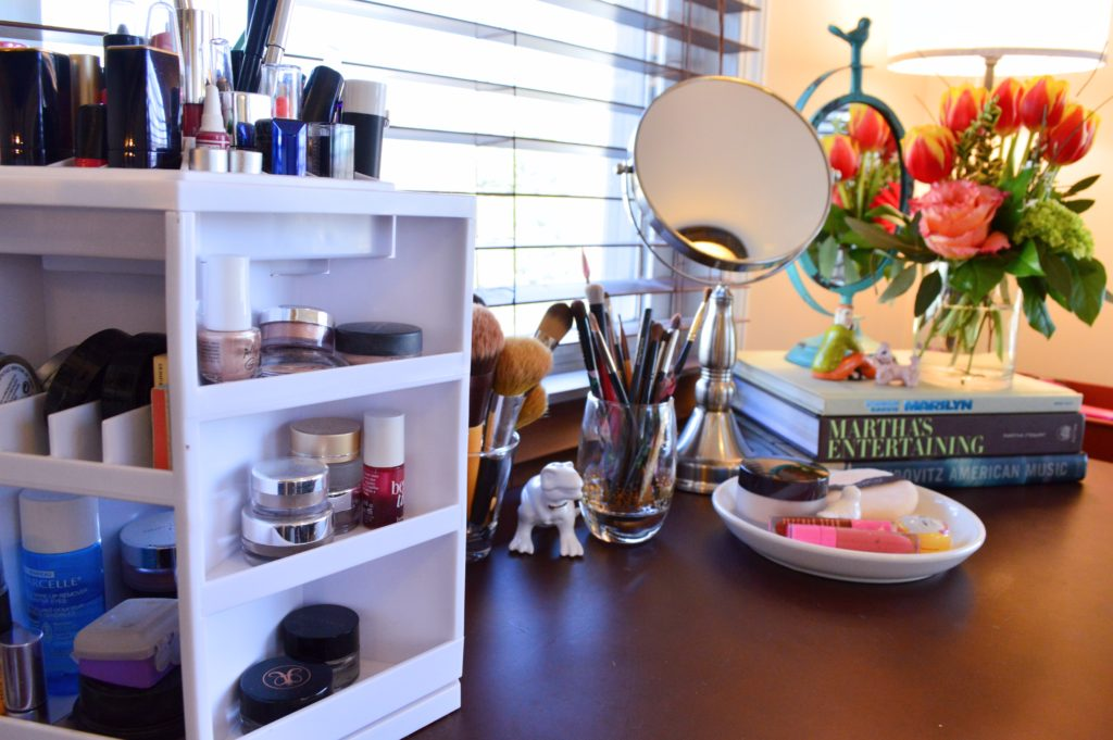 Home Tour Getting My New Makeup Vanity Organized With